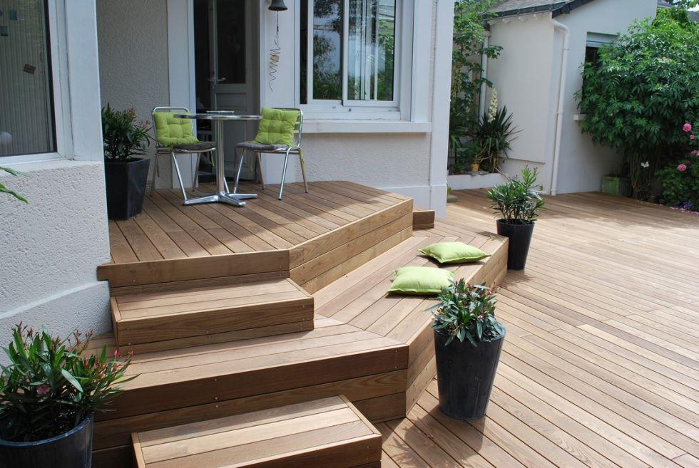 terrasse en ipé Bouches du rhone terrasse en bois en tour de piscine
