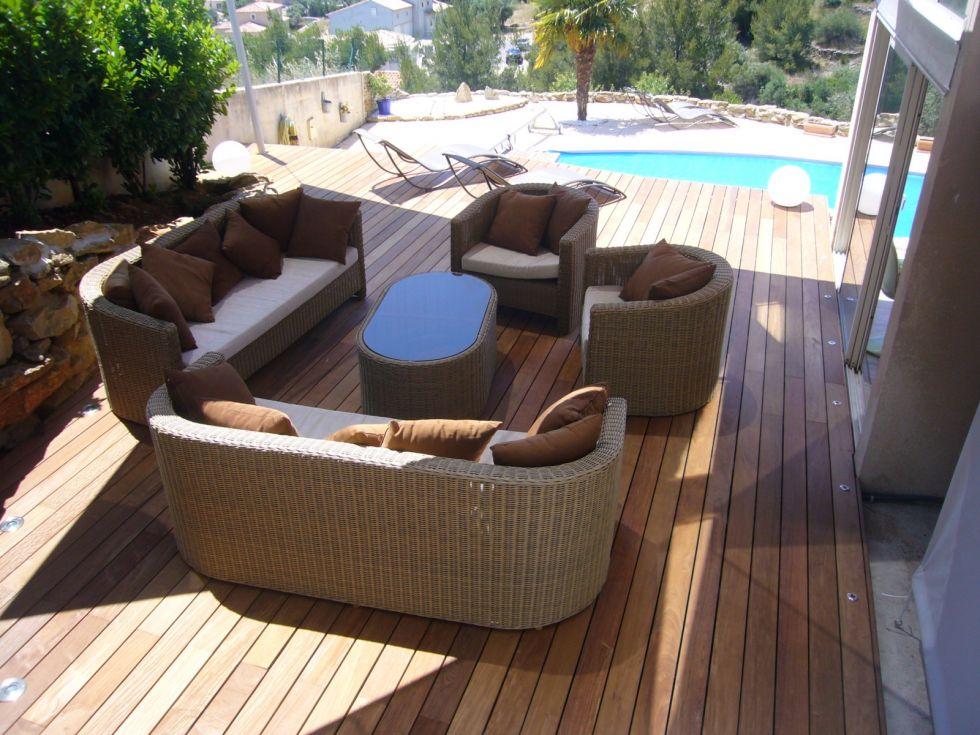 Bouches du rhone Aix en provence 13 Terrasse en bois Bouches du rhone