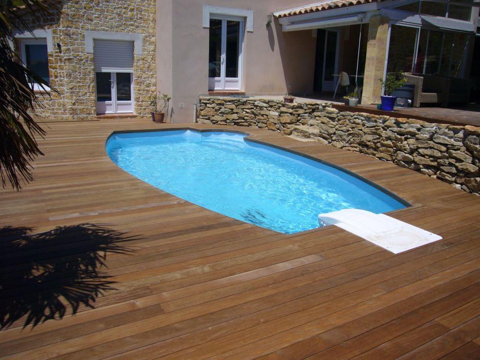 Piscine en bois piscine bois semi enterre recherche for Piscine semi enterre