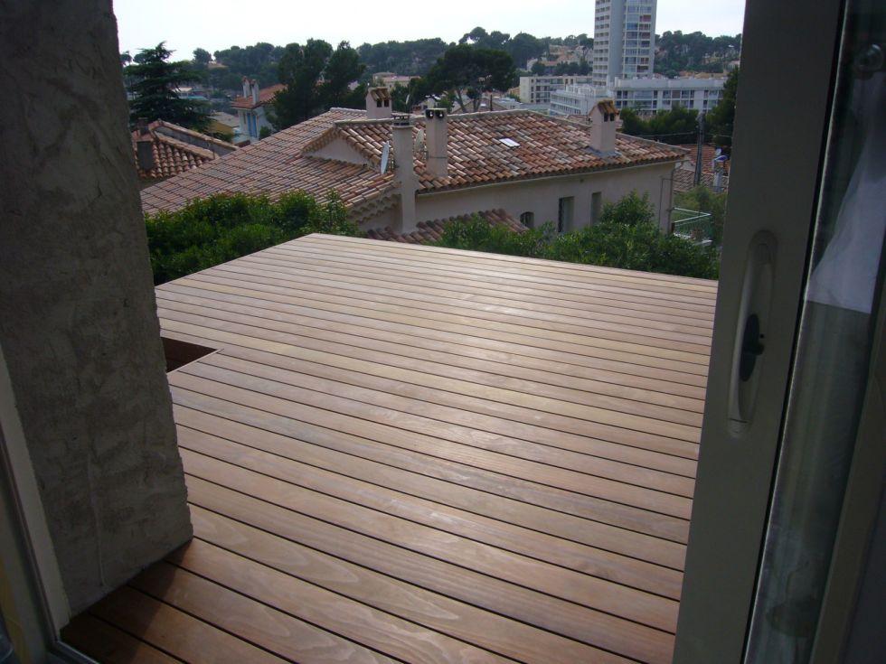 extension de terrasse en bois à Carry le RouetAMBIANCE TERRASSE