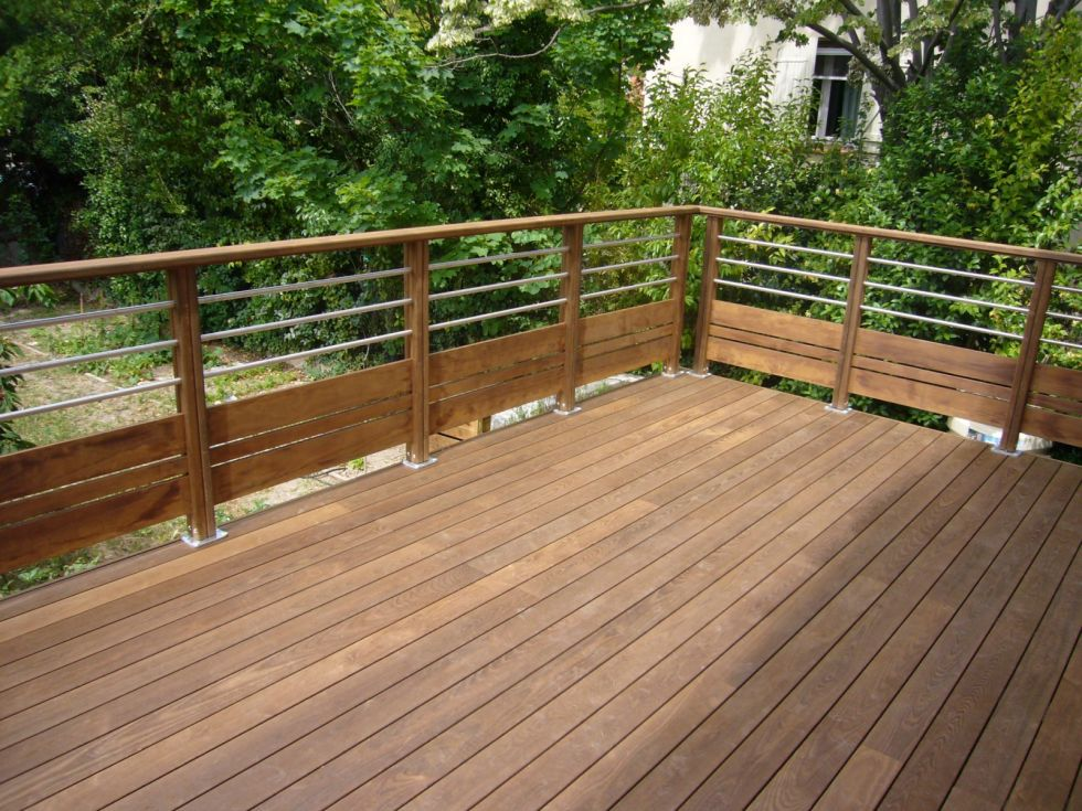 Terrasse en bois sur poteaux aix en provence ambiance terrasse - Terrasse bois et jardin zen aixen provence ...