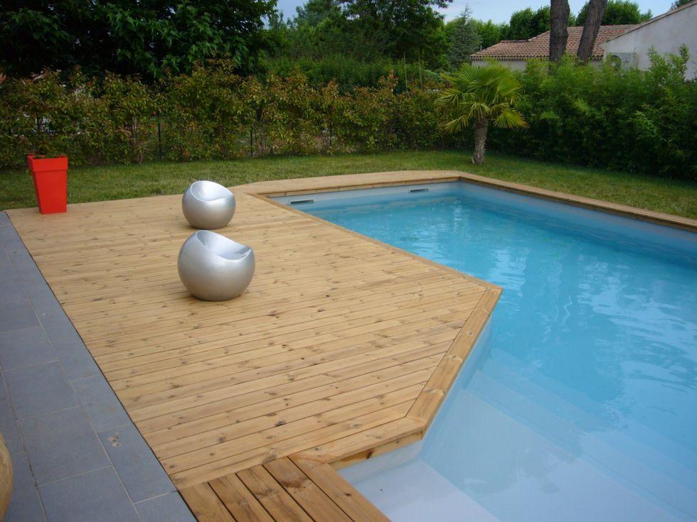 Cr ation d 39 une plage de piscine en pin thermopin for Creation de piscine