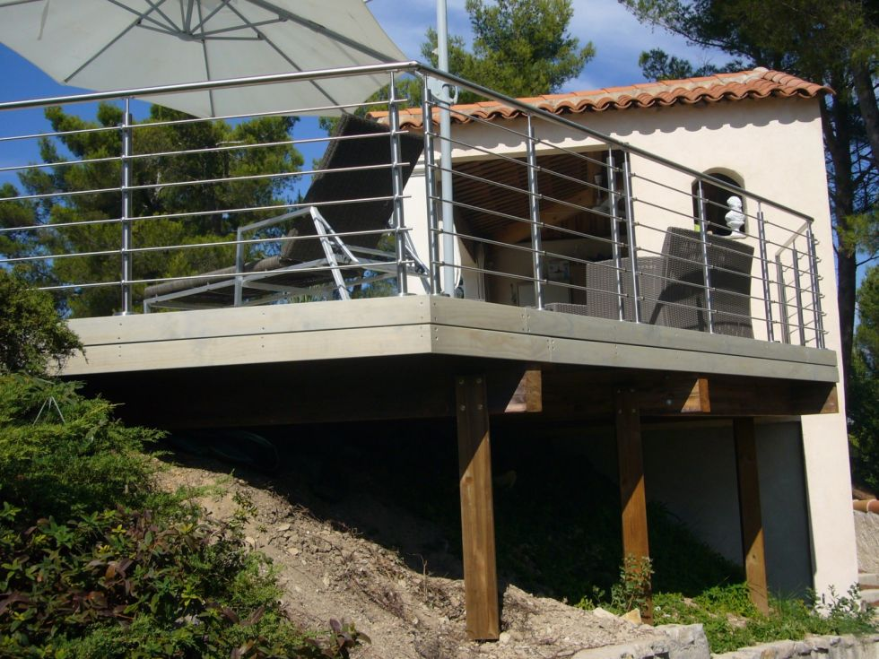 Faire une extension de terrasse en bois sur la r gion d for Extension sur terrasse