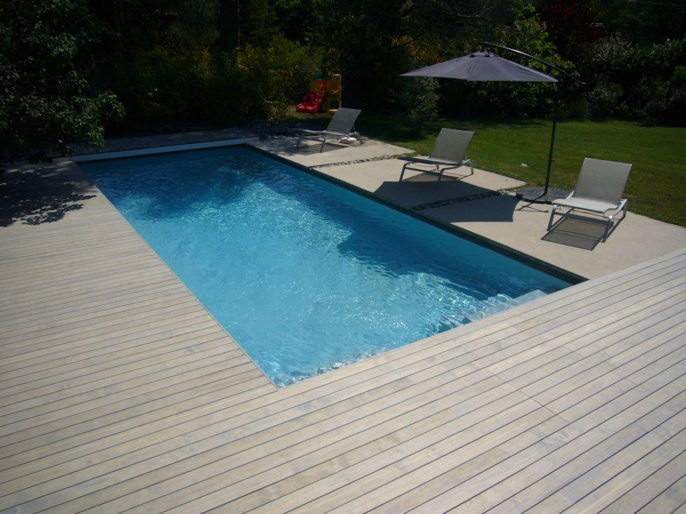 R aliser un deck en bois de piscine sur aix en provence - Piscine salon de provence ...
