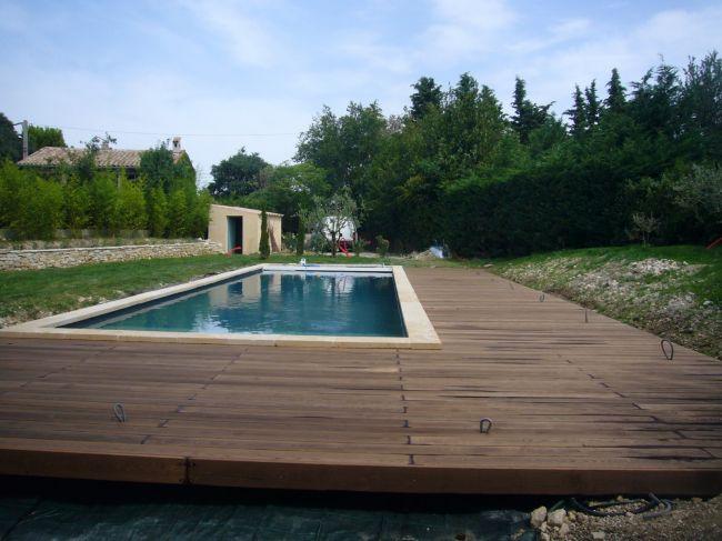 Tour de piscine en teck bouches du rhone aix en provence 13 ambiance terrasse - Terrasse teck piscine ...